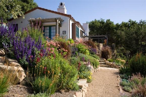 Path in Mediterranean garden