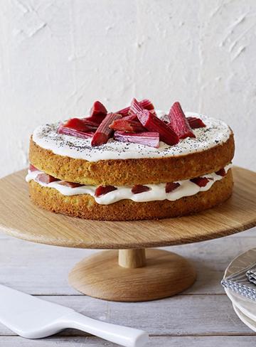 Rhubarb and Poppy Seed Cake