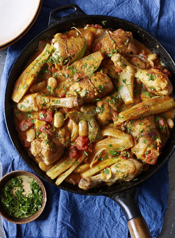 Chicken with Saffron, Fennel and Orange
