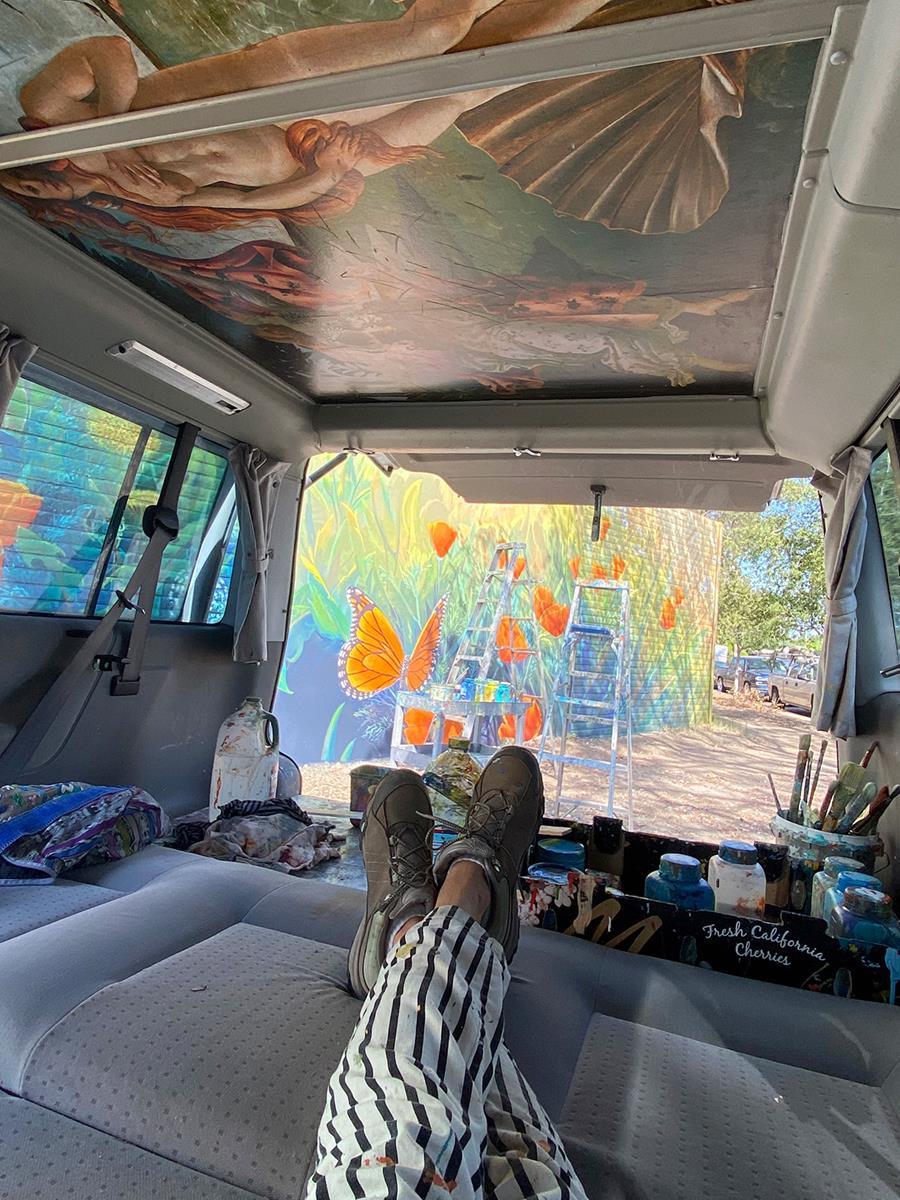Life of a Bay Area Muralist - Taking a Paint Break